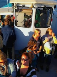 Great drinks are served during Locals Day Cruise on Damariscotta River Cruises
